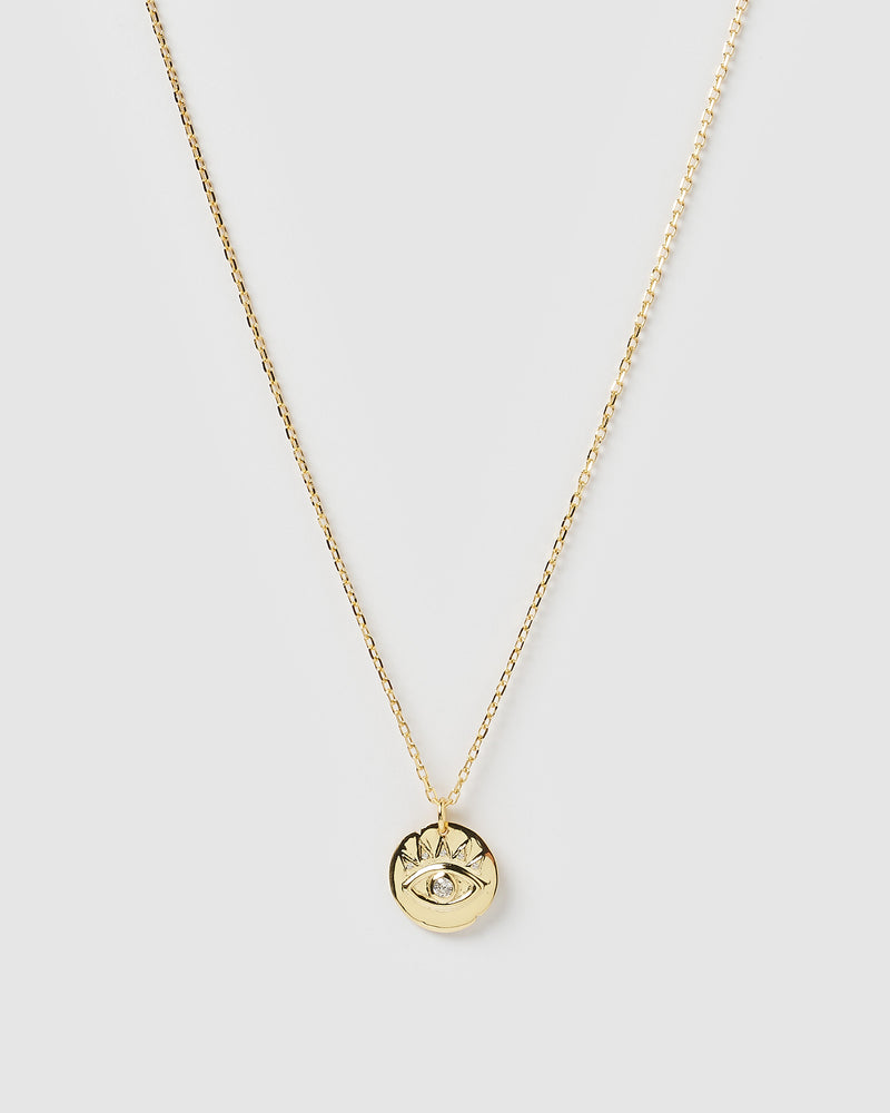 Izoa Leah Eye Necklace Gold