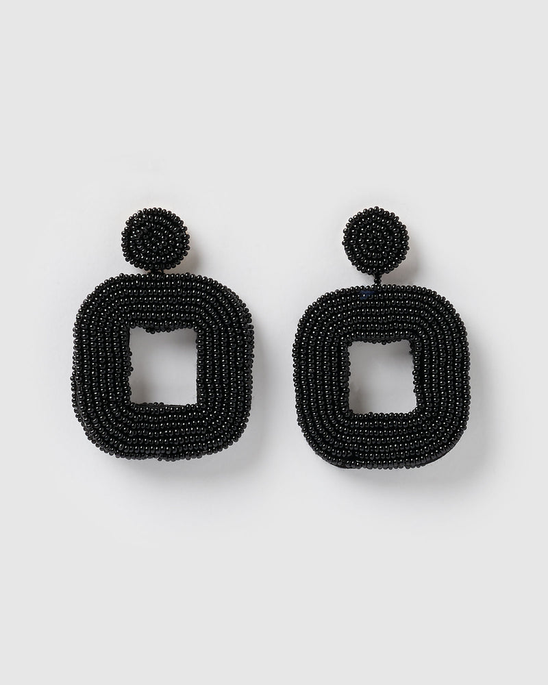 Izoa Mae Earrings Black