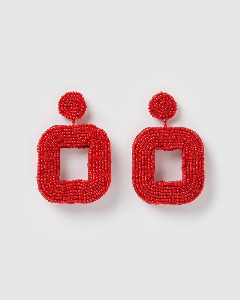 Izoa Mae Earrings Red