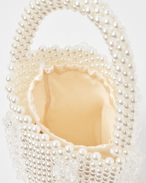 Izoa Margot Pearl Handbag White