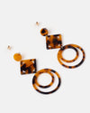 Izoa Mareike Earrings Tortoise Shell