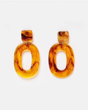 Izoa Martina Earrings Amber