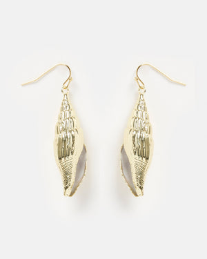 Miz Casa & Co Martira Beach Shell Earrings Gold