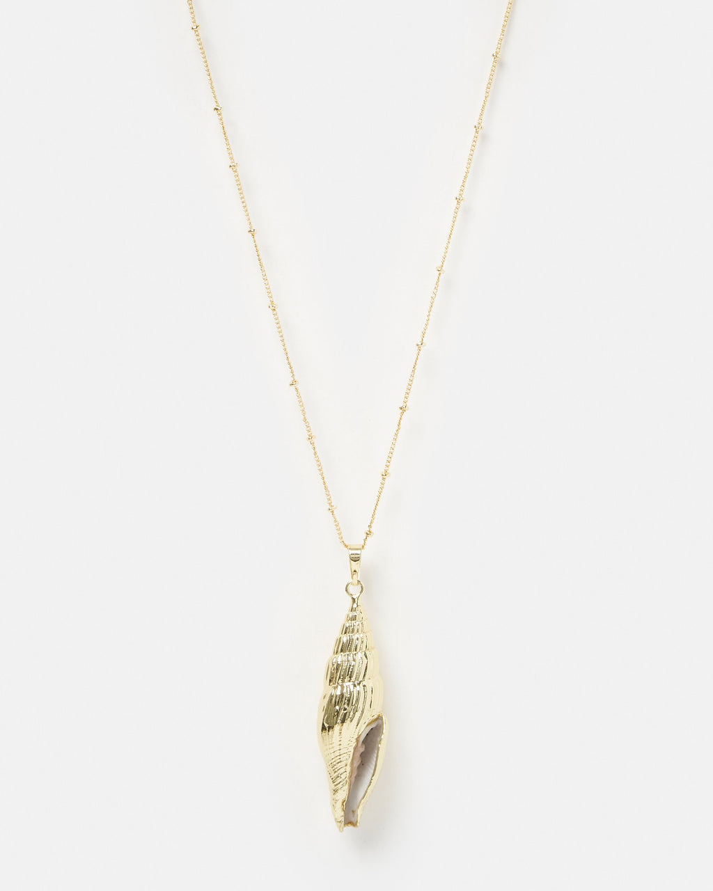 Miz Casa & Co Martira Beach Shell Necklace Gold