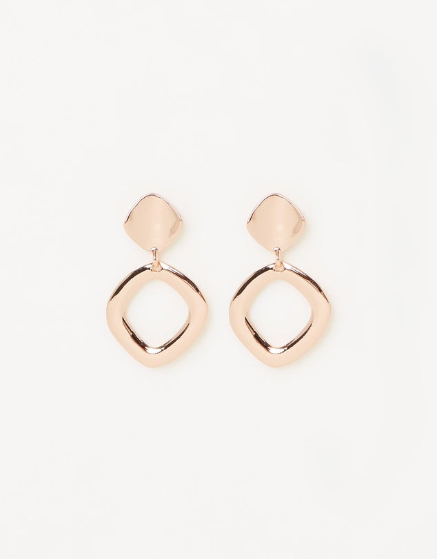 Izoa Mercury Earrings Rose Gold