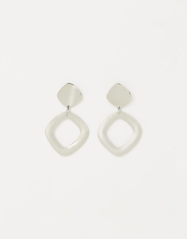 Izoa Mercury Earrings Silver