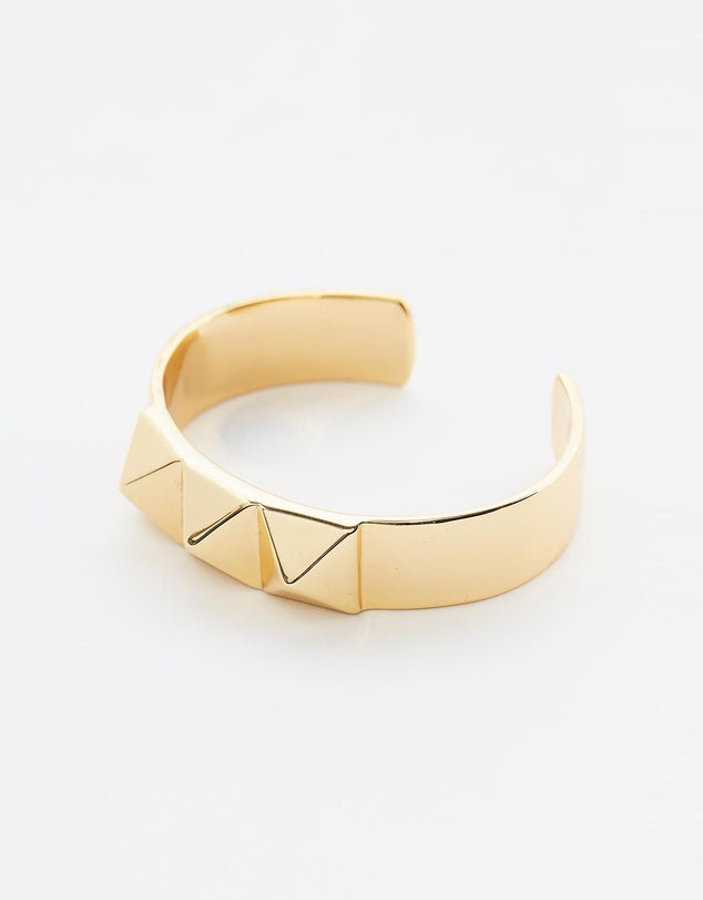 Izoa Studded Cuff Gold