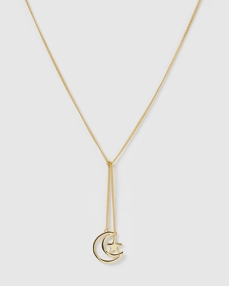 Izoa Moonstruck Necklace Gold