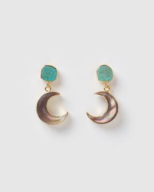 Miz Casa & Co Moon Dance Earrings Blue Purple
