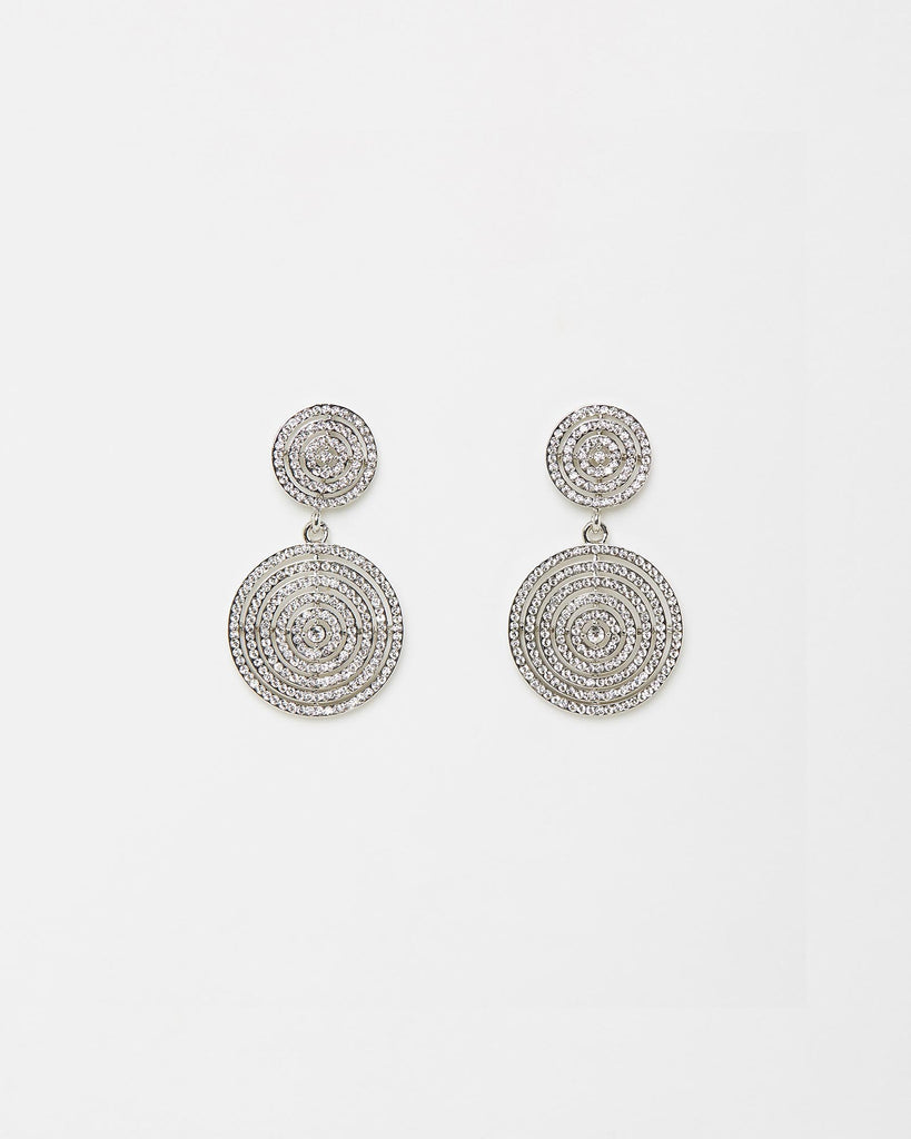 Izoa Rouge Earrings Silver