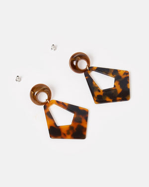 Izoa Mythical Earrings Tortoise Shell