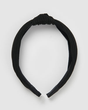 Izoa Manhattan Headband Black