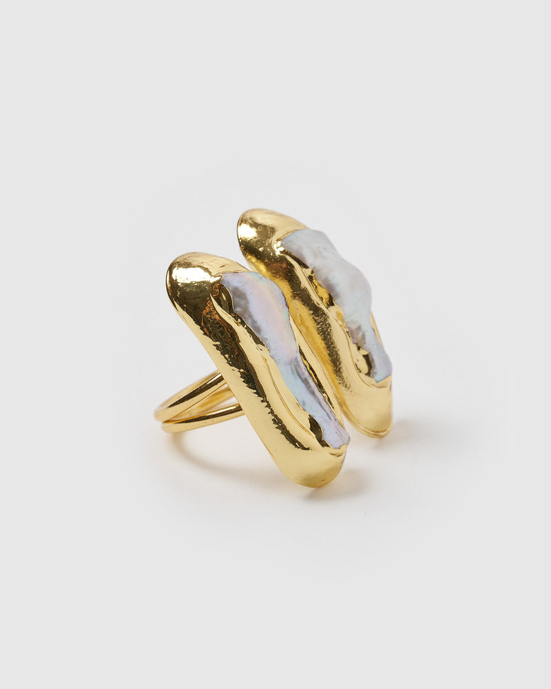 Miz Casa & Co Mara Ring Gold Freshwater Pearl