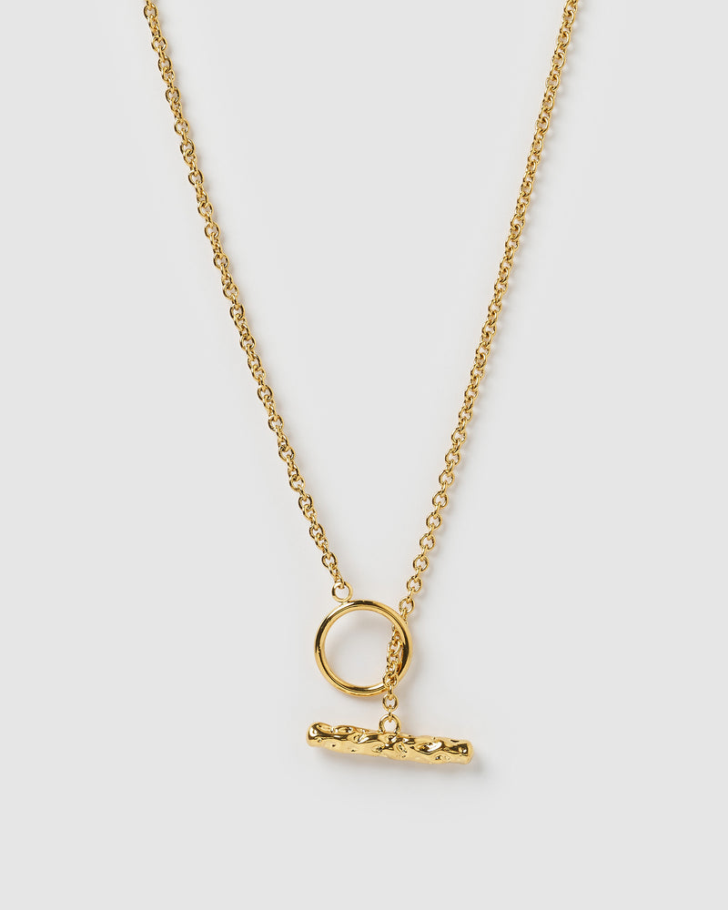 Izoa Mariah Thread through Necklace Gold