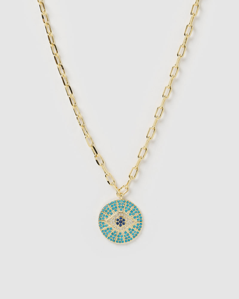 Izoa Marina Eye Necklace Gold