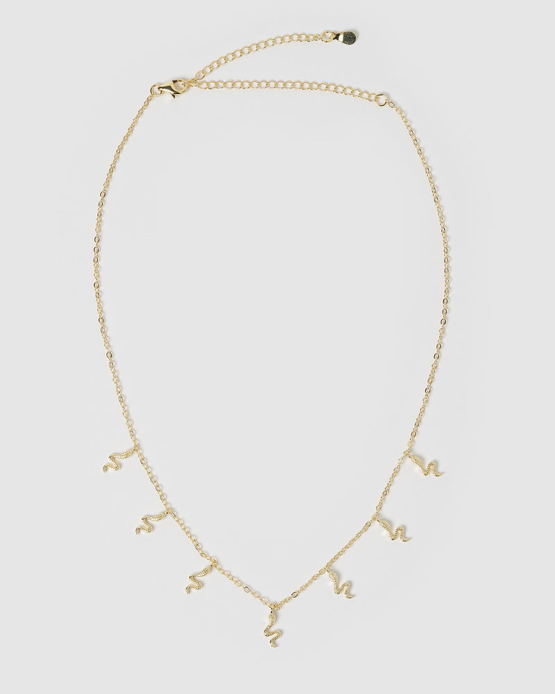Izoa Mini Snake Choker Necklace Gold