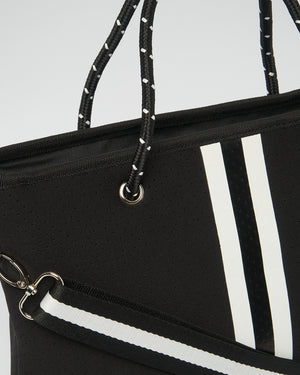 Miz Casa & Co Beverly Neoprene Mini Tote Bag Black