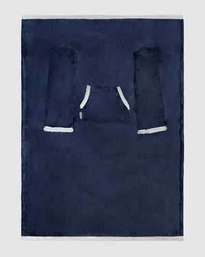 Miz Casa & Co Longline TV Blanket Navy