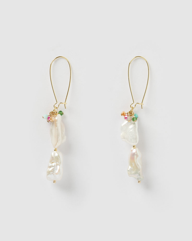 Miz Casa & Co Siren Drop Earrings Pearl