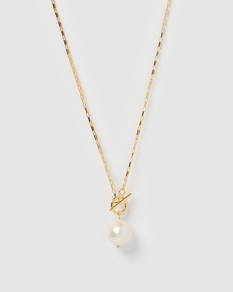Izoa Margarite Necklace Gold Pearl