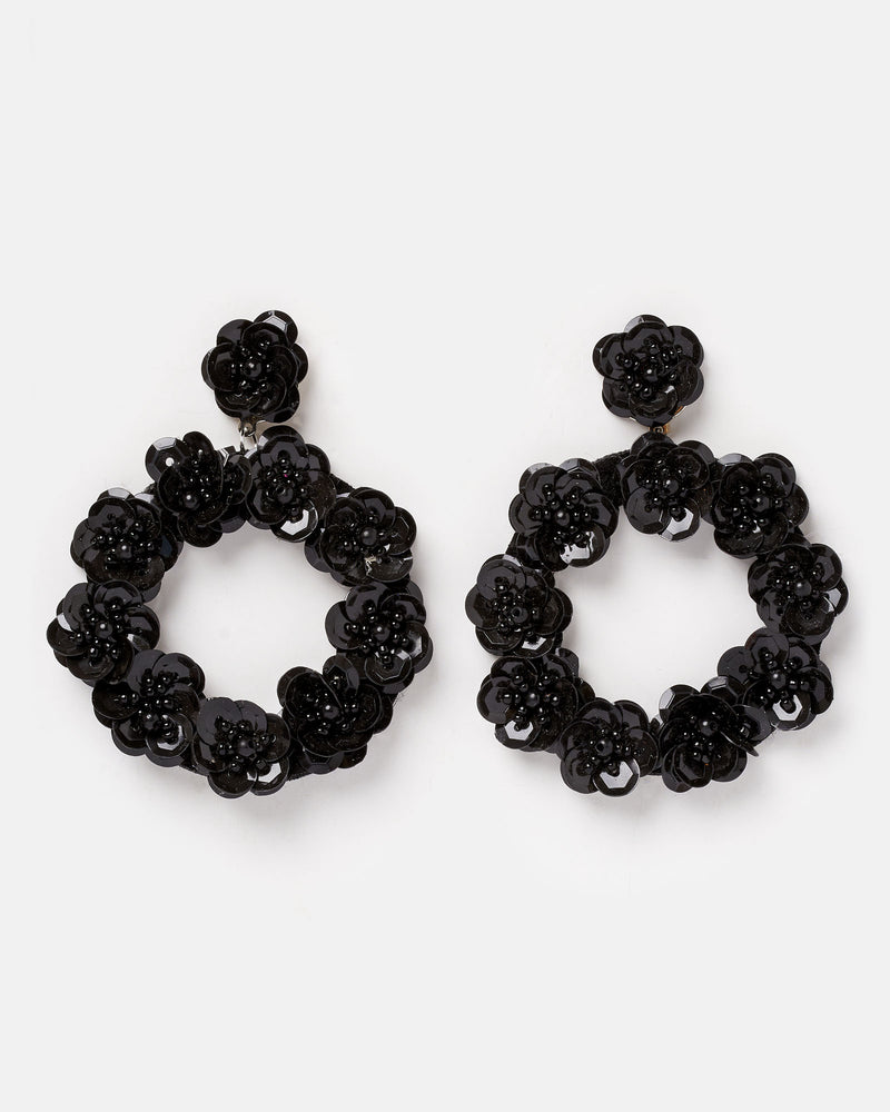 Izoa Night Garden Earrings Black
