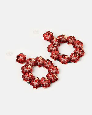 Izoa Night Garden Earrings Red