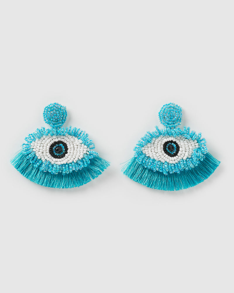 Izoa Out of Sight Earrings Blue
