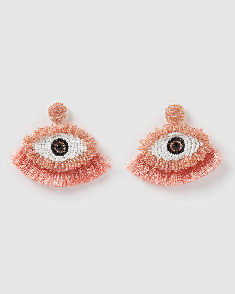 Izoa Out of Sight Earrings Pink