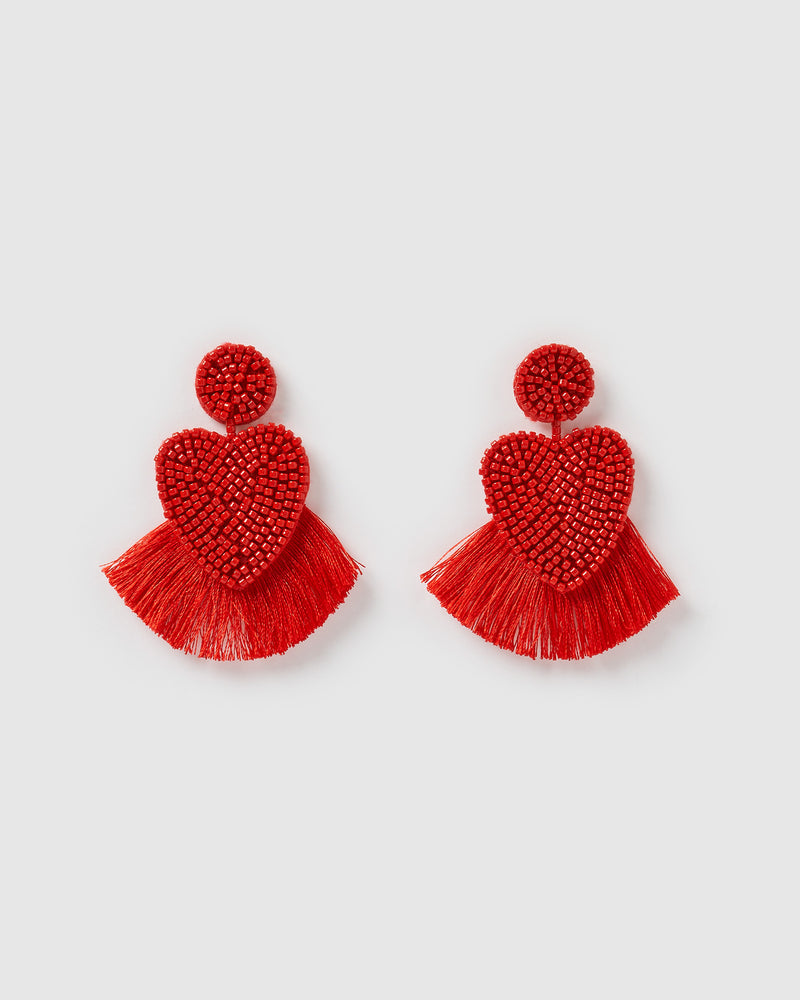 Izoa Passion Earrings Red