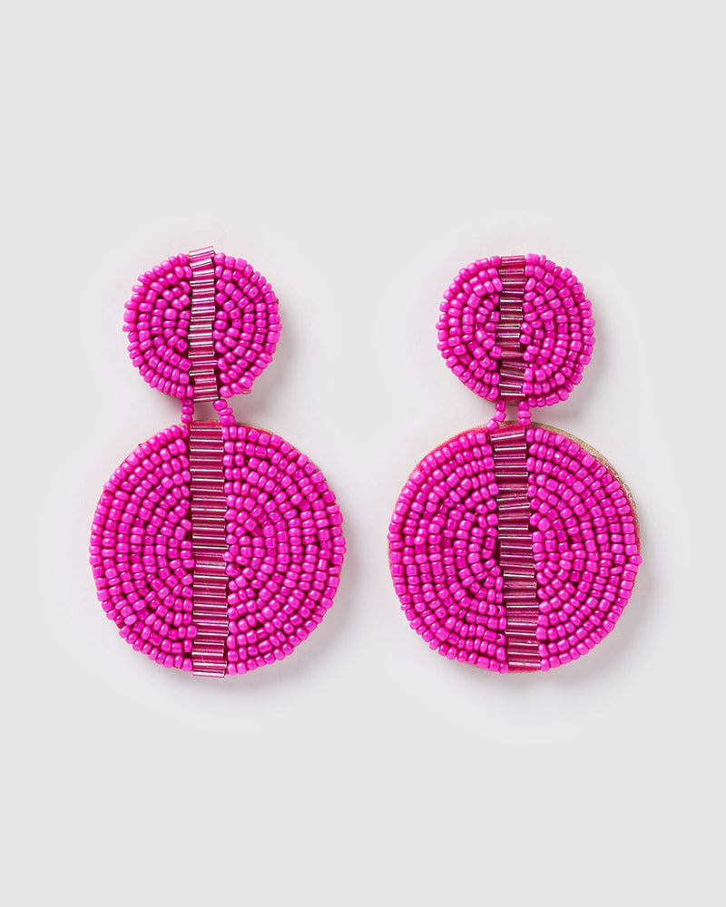 Izoa Phoebe Earrings Fuchsia