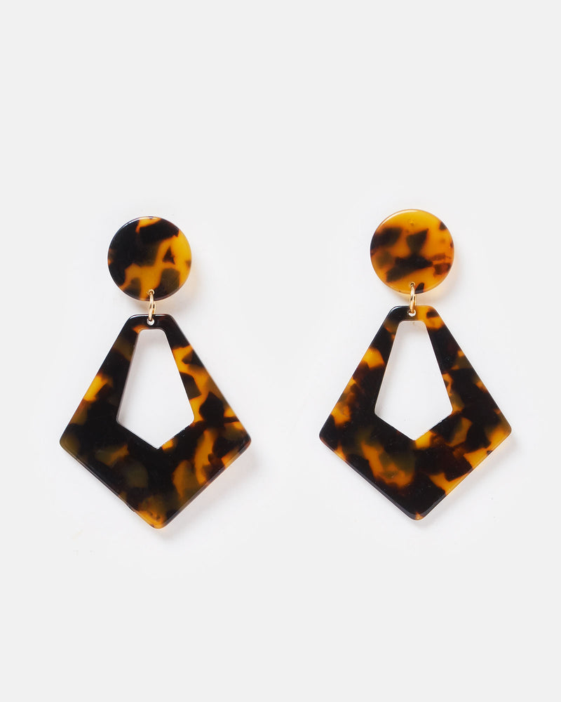 Izoa Pillars Earrings Tortoise Shell
