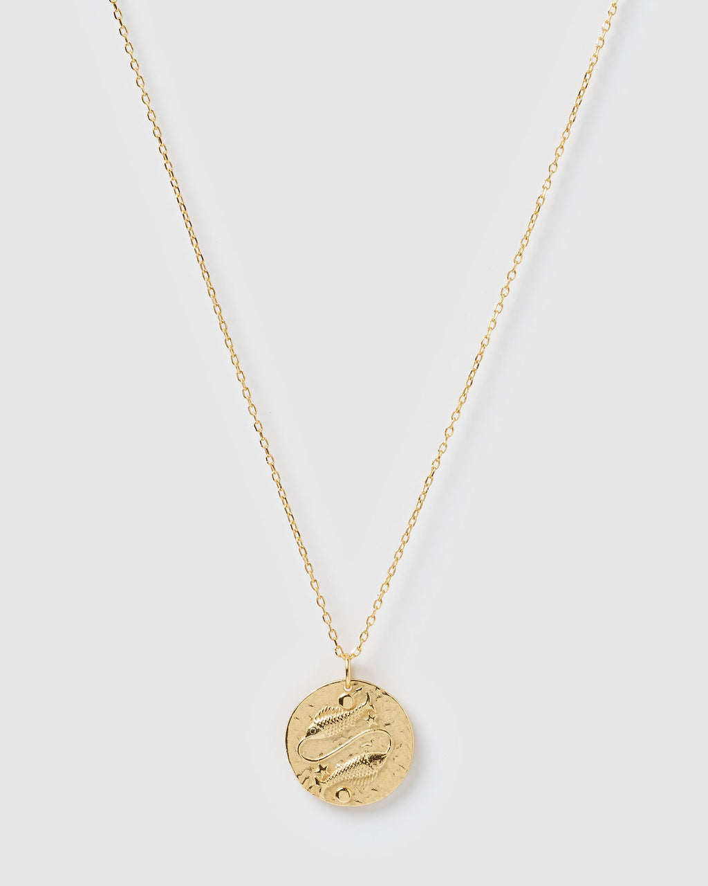 Izoa Star Sign Necklace Pisces Gold