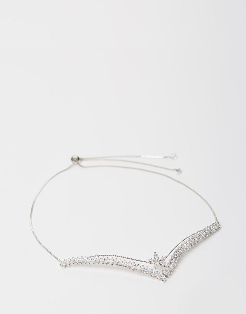 Izoa Pop Choker Silver Clear
