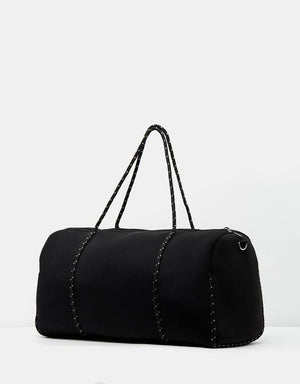 Miz Casa & Co Piper Neoprene Overnight Bag Black