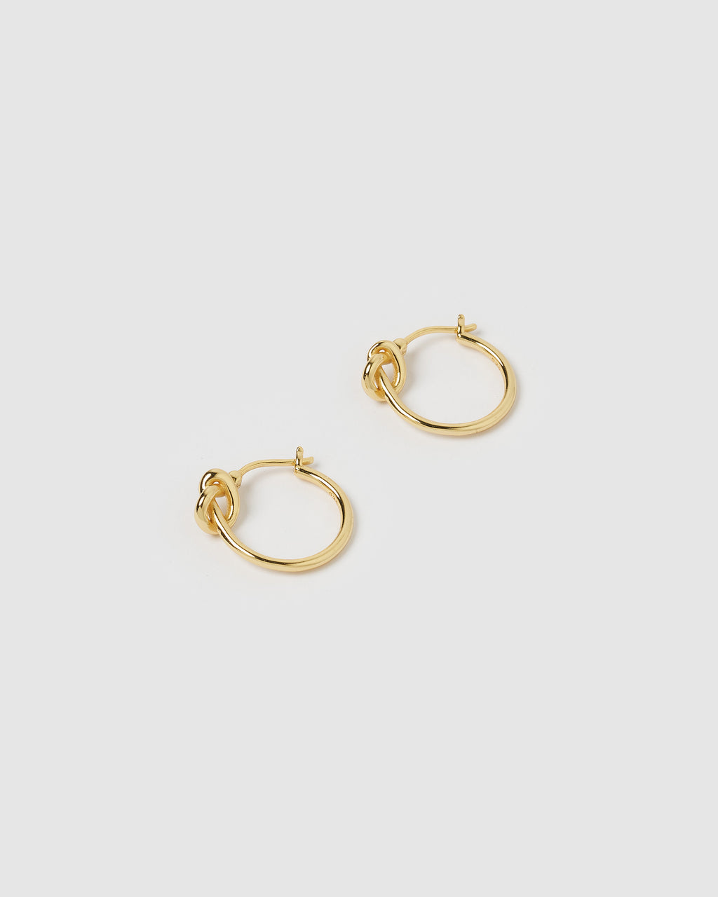 Izoa Pretzel Hoop Earrings Gold