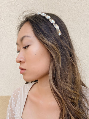 Izoa Princess Headband Silver