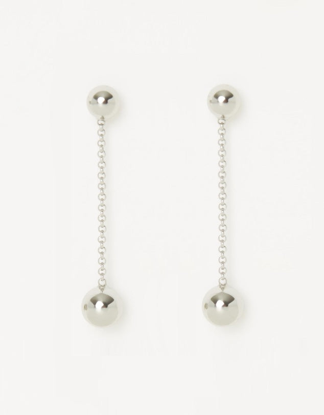 Izoa Quicksilver Earrings Silver