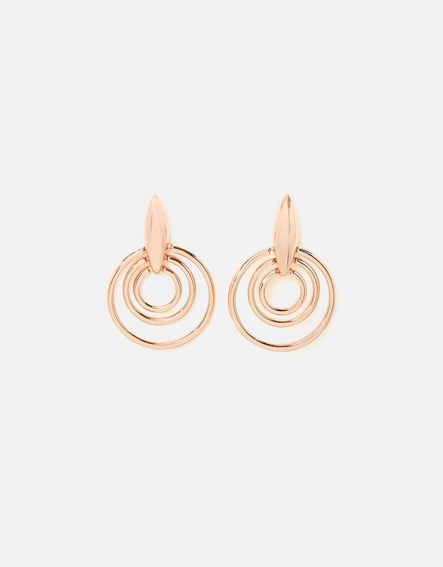 Izoa Radiate Earrings Rose Gold