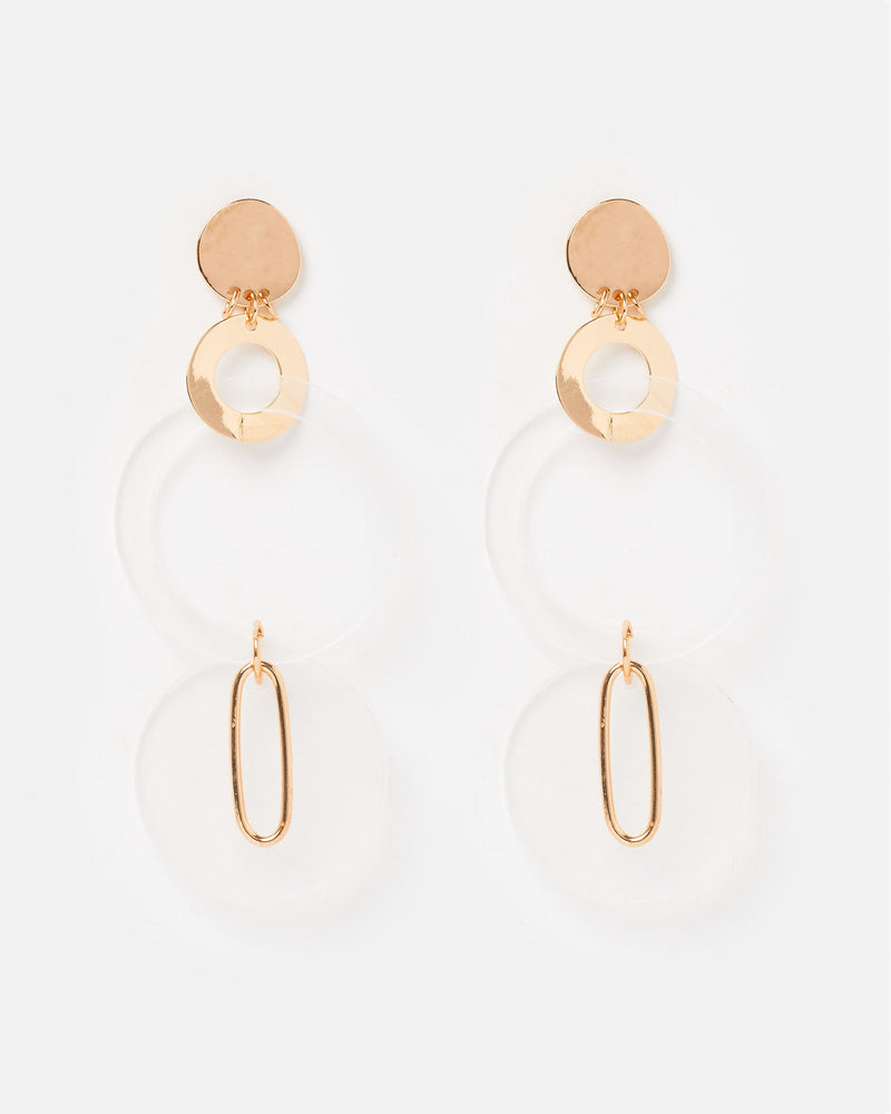 Izoa Reflections Earrings Gold