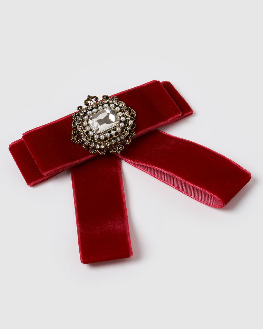 Izoa Regal Brooch Red Velvet
