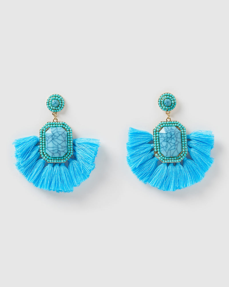 Izoa Reign Earrings Blue