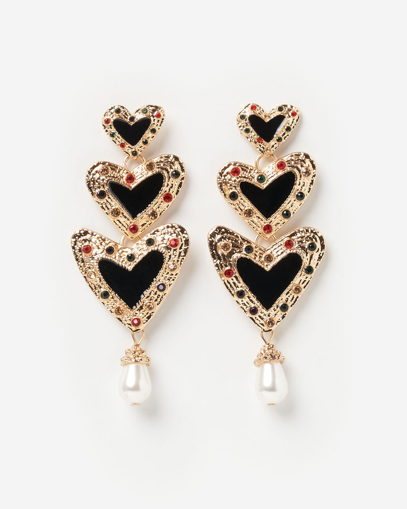 Izoa Rhapsody Earrings Black Gold