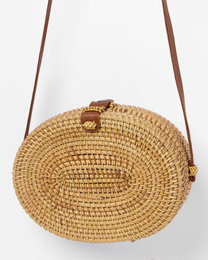 Miz Casa & Co River Oval Basket Bag Natural