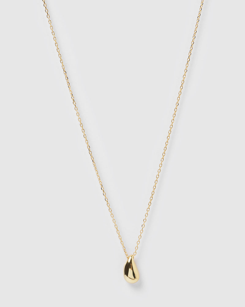 Izoa Rain Drop Necklace Gold