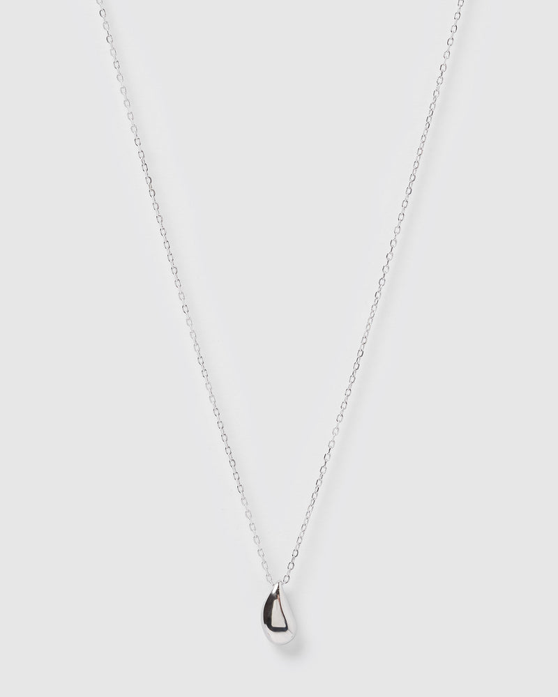 Izoa Rain Drop Necklace Silver