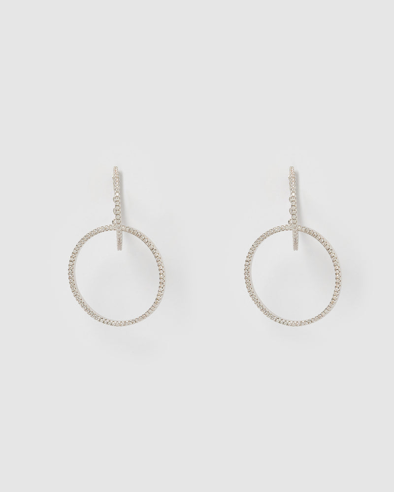 Izoa Riri Hoop Earrings Silver