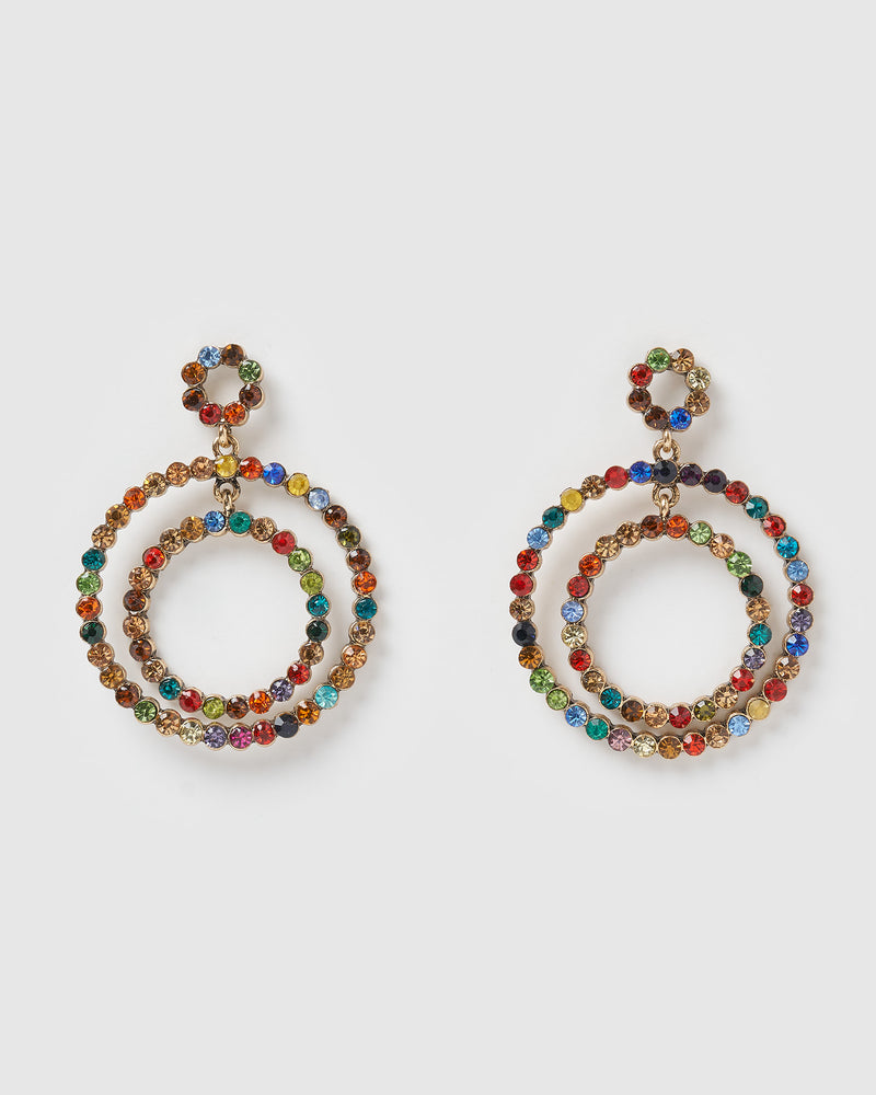 Izoa Rose Earrings Multi