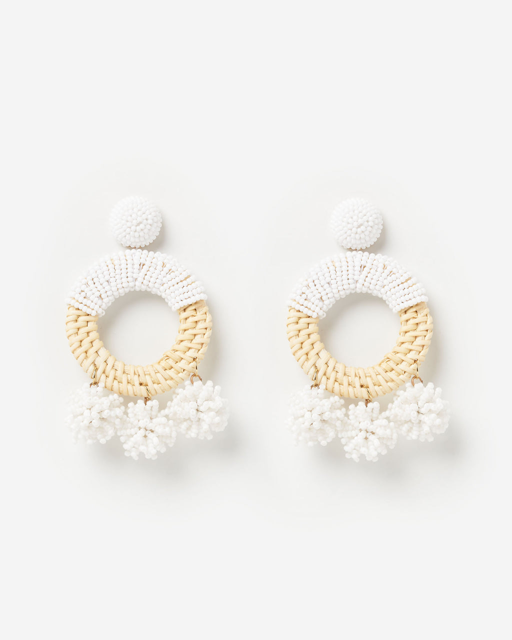 Izoa Saffron Earrings Natural White