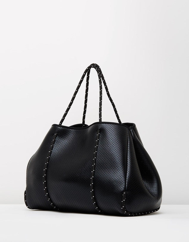Miz Casa and Co Shiny Black Sammy Tote Bag