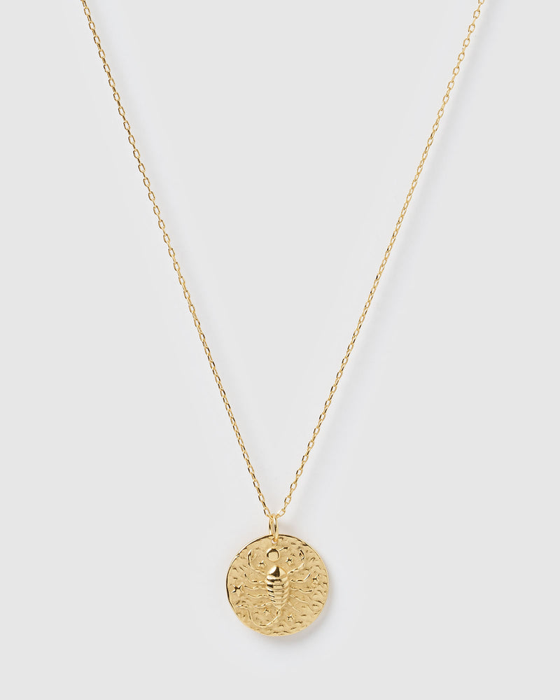 Izoa Star Sign Necklace Scorpio Gold
